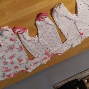 3 Baby girl one peice outfits .3mo
